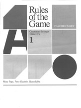 Rules Of The Game, Answer Key Book #1