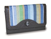 4-Fold Wallet, Cross Emblem, Blue Stripes