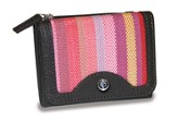 Trifold Wallet, Cross Emblem, Pink Stripes