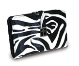 Cross Wallet with Coin Purse, Zebra