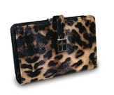 Cross Wallet with Coin Purse, Leopard