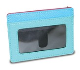 ID Card Holder with Cross, Blue and Pink