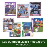 ACE Comprehensive Curriculum (7 Subjects), Single Student PACEs Only Kit, Grade 3, 3rd Edition (with 4th Edition Science & Social Studies)