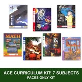 ACE Comprehensive Curriculum (7 Subjects), Single Student PACEs Only Kit, Grade 4, 3rd Edition (with 4th Edition Science & Social Studies)
