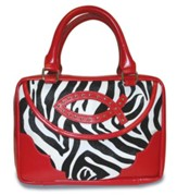 Ichthus Bible Cover, Zebra, Red, Large