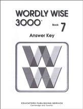 Wordly Wise 3000, Grade 7, Answer Key for Student Text