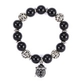 Prayer Box Enamel Bracelet, Black