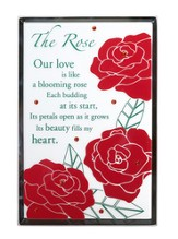 The Rose, Vertical Mirror Plaque