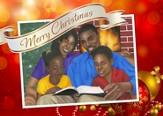 Family Christmas Christmas Cards African American, Box of 15
