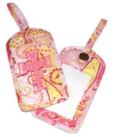Paisley Quilted Luggage Tags, Pink