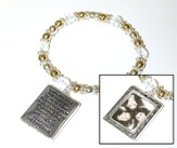 Serenity Prayer Picture Frame Bracelet