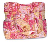 One Blessing After Another, Quilted Villager Tote, Pink