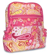 He Fills My Life, Quilted Backpack, Pink