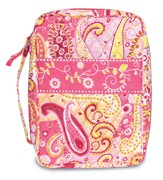 Paisley Quilted Bible Cover, Pink, Medium