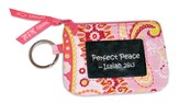 Perfect Peace, Quilted ID Case with Zipper, Pink