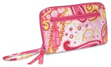 Do Everything in Love, Quilted Wallet with Zipper, Pink