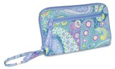 Do Everything in Love, Quilted Wallet with Zipper, Blue