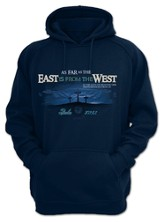 As Far As the East Is From the West, Hooded Sweatshirt, Navy, XX-Large