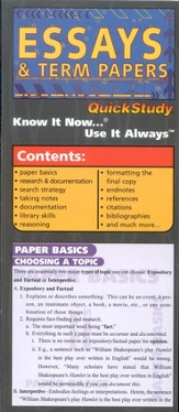 Essays & Term Papers, Compact Chart