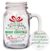 Merry Christmas Mason Jar Mug
