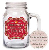 Christmas Begins With Christ, Mason Jar Mug