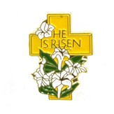 He is Risen Lapel Pin