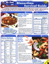 Mr. Food Dinnertime Guide, QuickStudy ® Chart