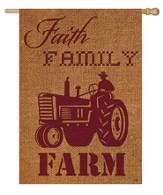 Faith, Family, Farm Flag, Large