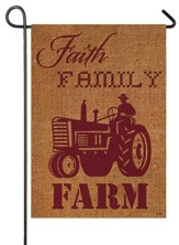 Faith, Family, Farm Flag, Small
