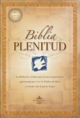 Biblia Plenitud RVR 1960 Tam. Manual, Enc. Rústica  (RVR 1960 Spirit-Filled Life Bible Handy Size, Softcover) - Slightly Imperfect