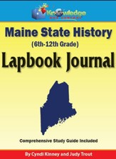 Maine State History Lapbook Journal - PDF Download [Download]