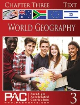 World Geography, Chapter 3, Text