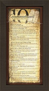The Ten Commandments of Business Framed Print
