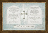 Ten Commandments Framed Art, Exodus 20
