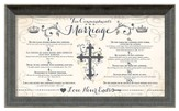 Ten Commandments of Marriage Framed Art