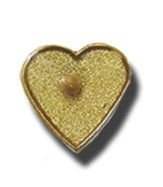 Heart Shaped Mustard Seed Lapel Pin - Slightly Imperfect