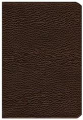 ESV Pitt Minion Reference Bible, Calf Split leather, brown