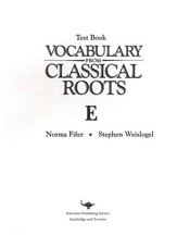 Vocabulary from Classical Roots Blackline Master Test: Book E - Slightly Imperfect