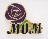 Mom and Rose Lapel Pin