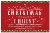 Christmas Begins With Christ, Box of 20 Cards