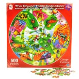 Creepy Critters Round Table 500 Piece Puzzle