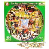A Year at the Park: Round Table 500 Piece Puzzle