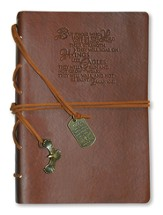 Wings Like Eagles, Brown Journal with Charm