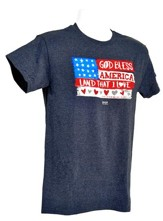 Wooden Flag Shirt, Heather Navy,  Small