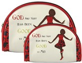God Sho Nuff Has Been Good To Me Cosmetic Bags, set of 2
