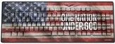 One Nation Under God, America Flag USB Wireless Keyboard