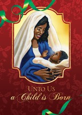 Unto Us A Child Is Born Christmas Cards, Box of 15