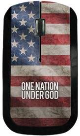 One Nation Under God America Flag USB Wireless Mouse