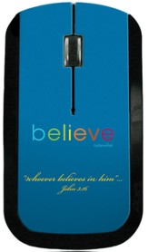 Believe USB Wireless Mouse, Blue
