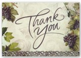 Thank You, Grapes and Lace Cards, Box of 12